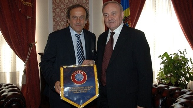 Michel Platini in Moldova