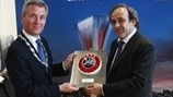Michel Platini in Amsterdam