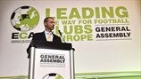 UEFA President Aleksander Čeferin at the ECA assembly