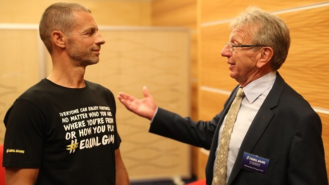 Aleksander Čeferin and Eddie Thomas - #EqualGame launch