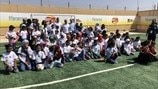 UEFA Foundation pitches hope to refugee girls.