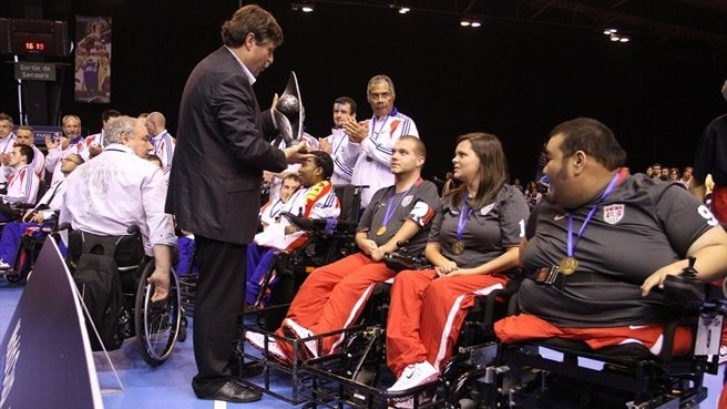 Powerchair World Cup takes place in Paris
