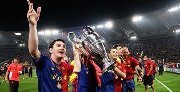 Lionel Messi in Barca Celebration